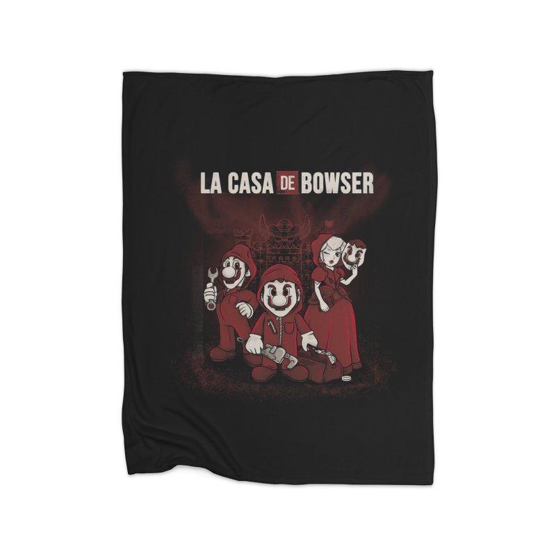 La Casa de Bowser Home Fleece Blanket Blanket by Red Bug's Artist Shop