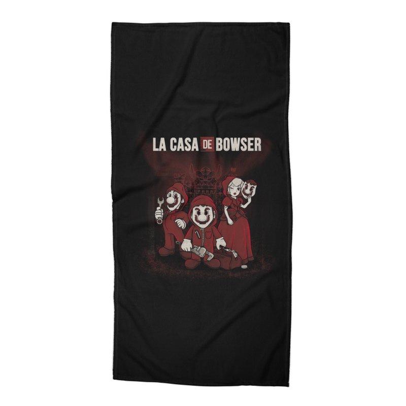 La Casa de Bowser Accessories Beach Towel by Red Bug's Artist Shop