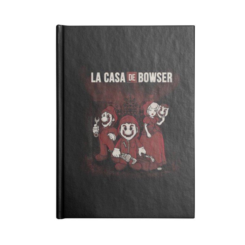 La Casa de Bowser Accessories Blank Journal Notebook by Red Bug's Artist Shop