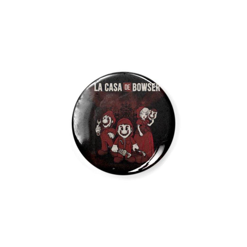 La Casa de Bowser Accessories Button by Red Bug's Artist Shop
