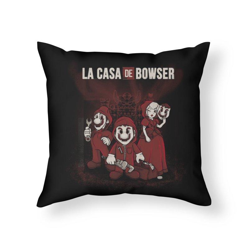 La Casa de Bowser Home Throw Pillow by Red Bug's Artist Shop