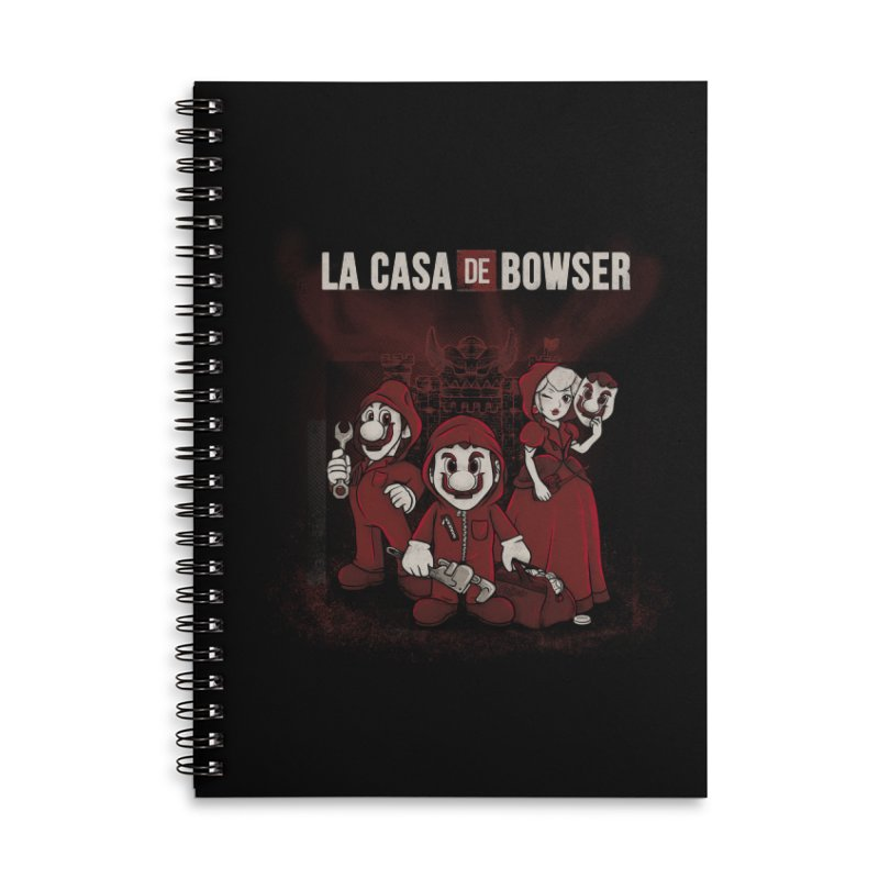 La Casa de Bowser Accessories Lined Spiral Notebook by Red Bug's Artist Shop
