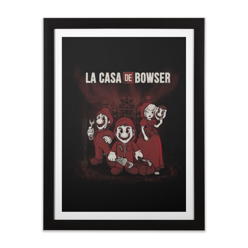 La Casa de Bowser Home Framed Fine Art Print by Red Bug's Artist Shop