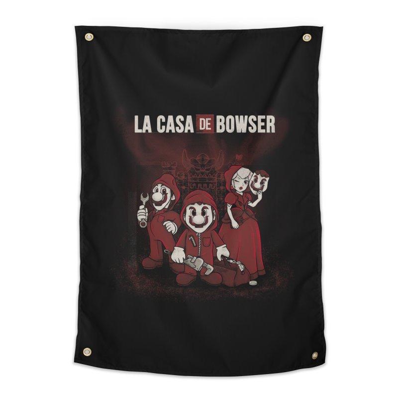 La Casa de Bowser Home Tapestry by Red Bug's Artist Shop