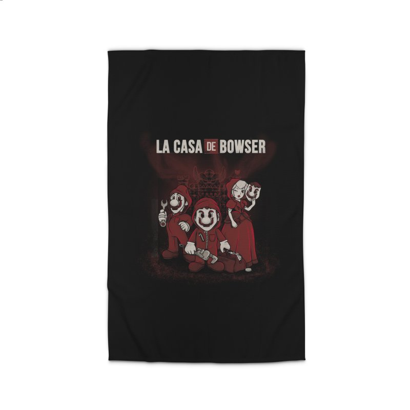 La Casa de Bowser Home Rug by Red Bug's Artist Shop