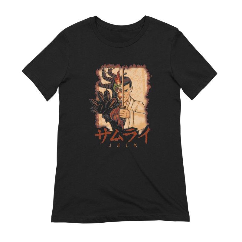Samurai X Aku Women's Extra Soft T-Shirt by Red Bug's Artist Shop