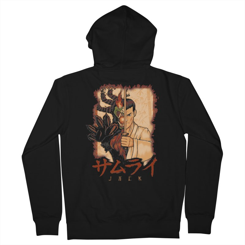 Samurai X Aku Men's French Terry Zip-Up Hoody by Red Bug's Artist Shop