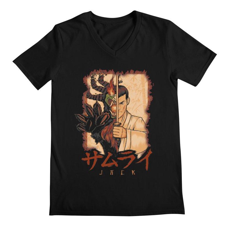 Samurai X Aku Men's Regular V-Neck by Red Bug's Artist Shop