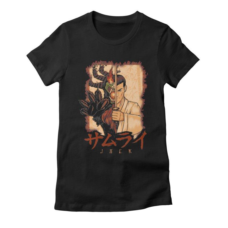 Samurai X Aku Women's Fitted T-Shirt by Red Bug's Artist Shop