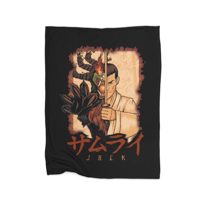 Samurai X Aku Home Fleece Blanket Blanket by Red Bug's Artist Shop
