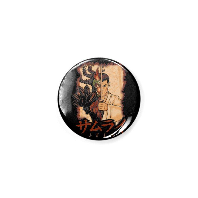 Samurai X Aku Accessories Button by Red Bug's Artist Shop