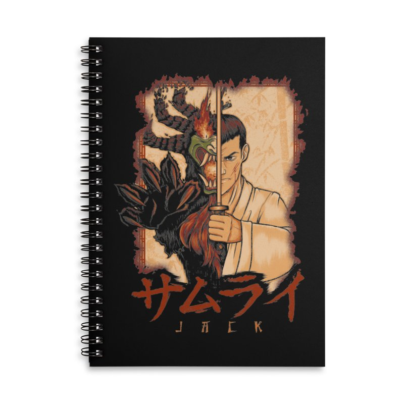 Samurai X Aku Accessories Lined Spiral Notebook by Red Bug's Artist Shop