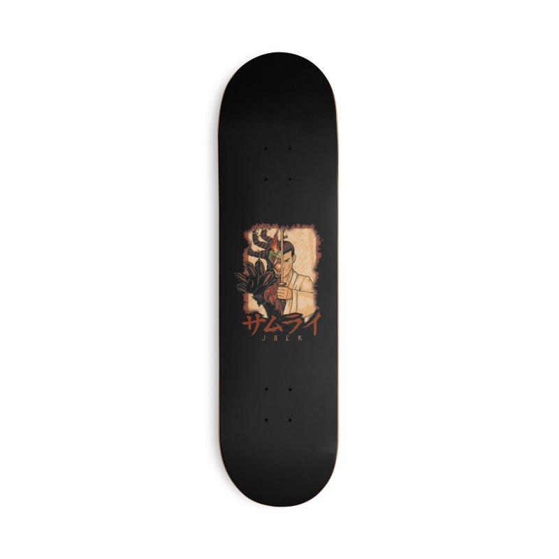 Samurai X Aku Accessories Deck Only Skateboard by Red Bug's Artist Shop