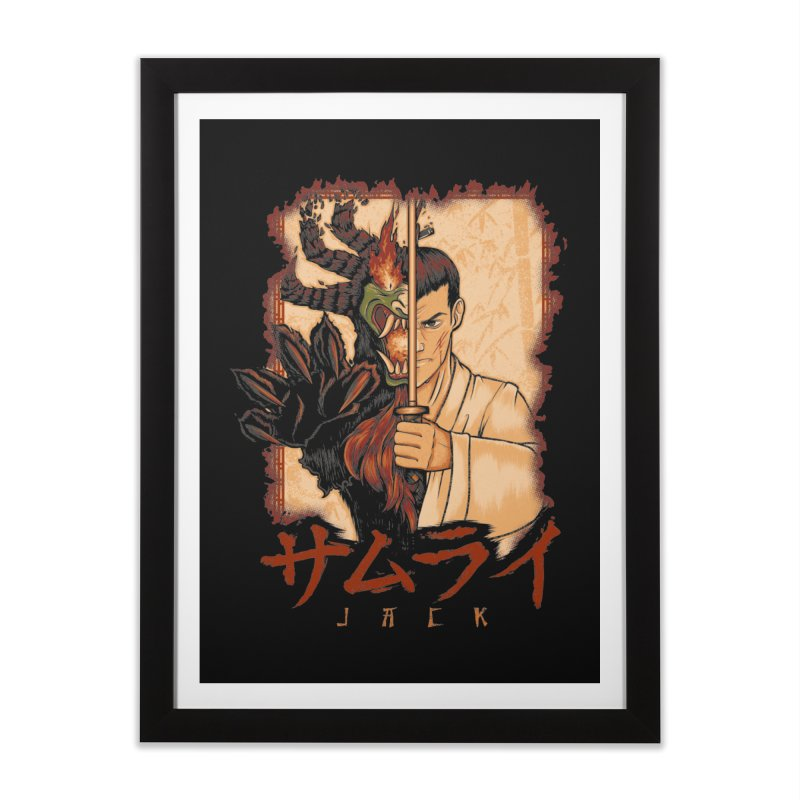 Samurai X Aku Home Framed Fine Art Print by Red Bug's Artist Shop