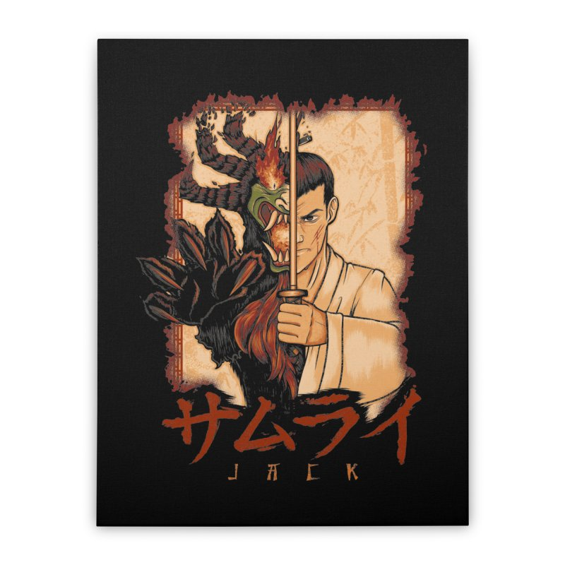 Samurai X Aku Home Stretched Canvas by Red Bug's Artist Shop