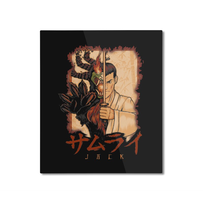 Samurai X Aku Home Mounted Aluminum Print by Red Bug's Artist Shop