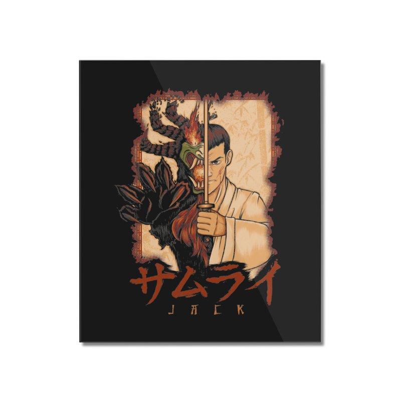 Samurai X Aku Home Mounted Acrylic Print by Red Bug's Artist Shop