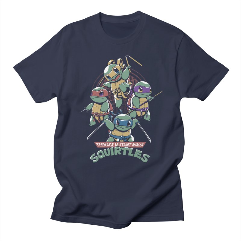 Squirtles in Men's Regular T-Shirt Navy by Red Bug's Artist Shop