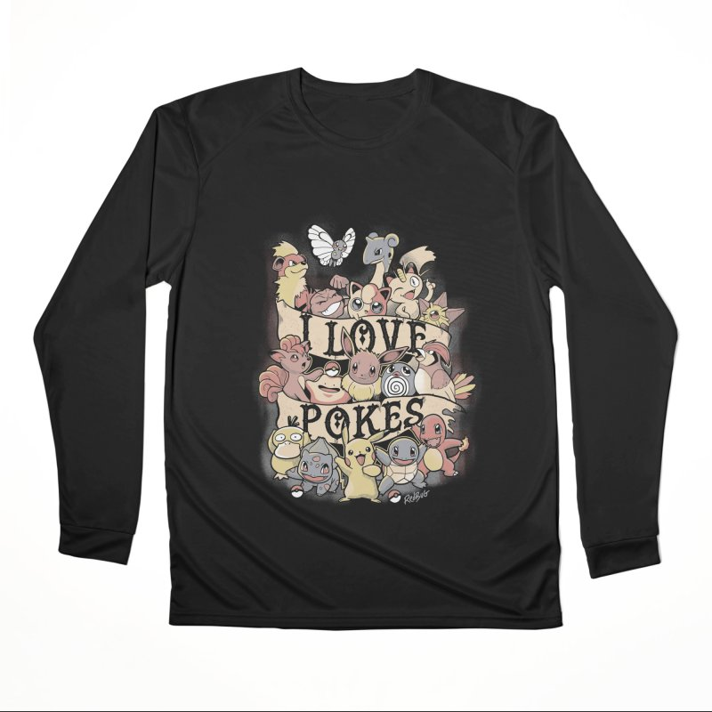 I Love Pokes Women's Longsleeve T-Shirt by Red Bug's Artist Shop