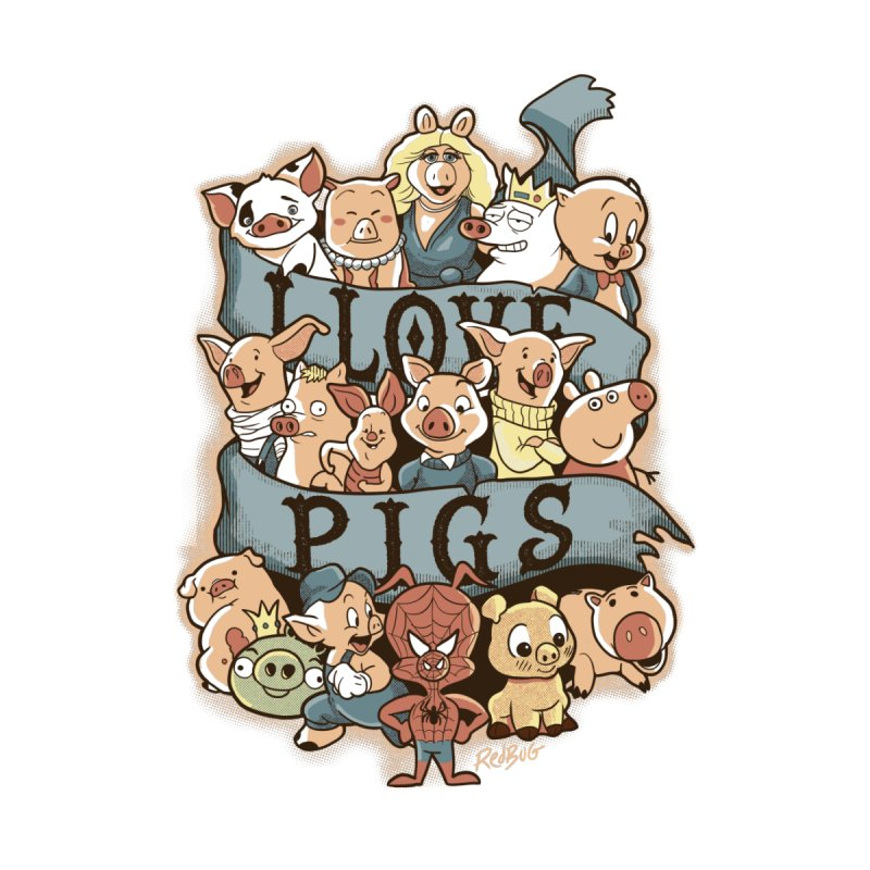 I Love Pigs Kids Baby Longsleeve Bodysuit by Red Bug's Artist Shop