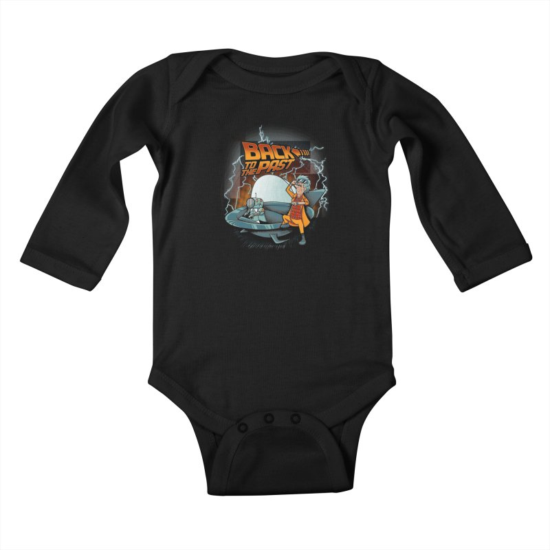 Back to the past Kids Baby Longsleeve Bodysuit by Red Bug's Artist Shop