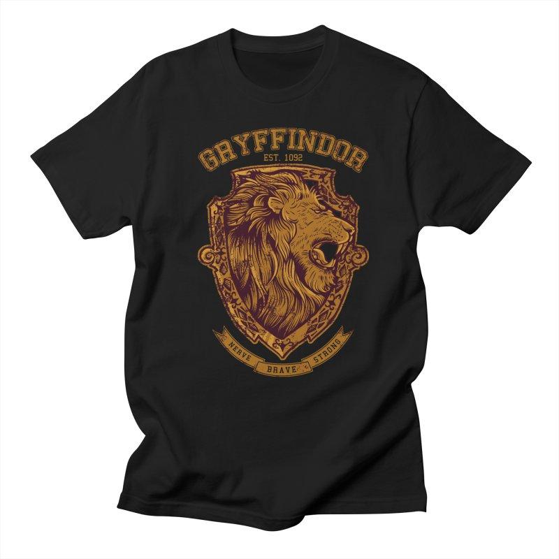 Gryffindor in Men's Regular T-Shirt Black by Red Bug's Artist Shop