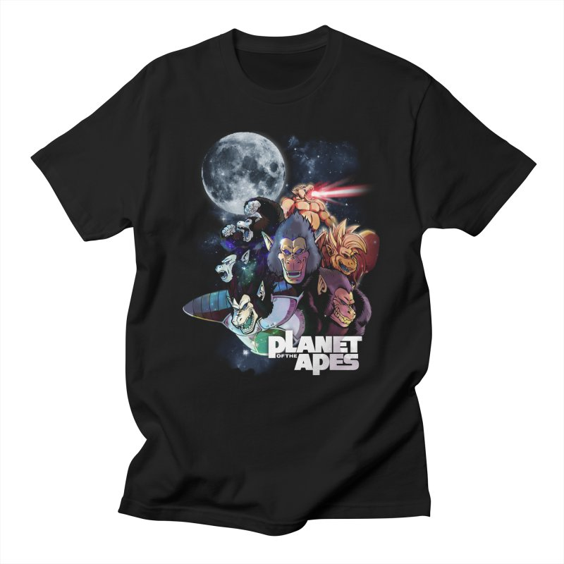 Planet of the Apes in Men's Regular T-Shirt Black by Red Bug's Artist Shop