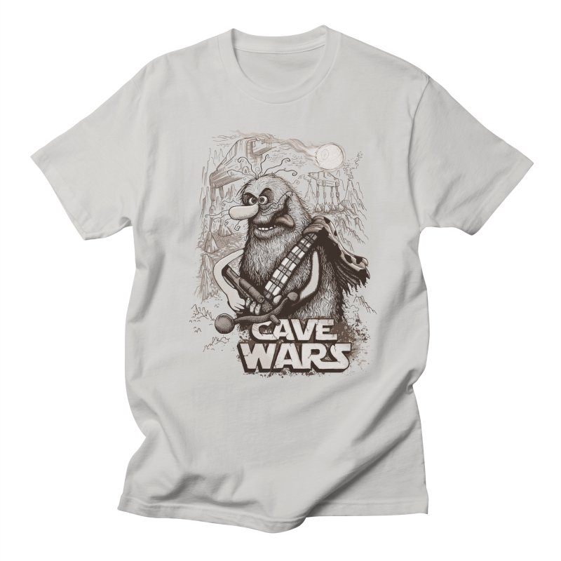 Cave Wars in Men's Regular T-Shirt Stone by Red Bug's Artist Shop