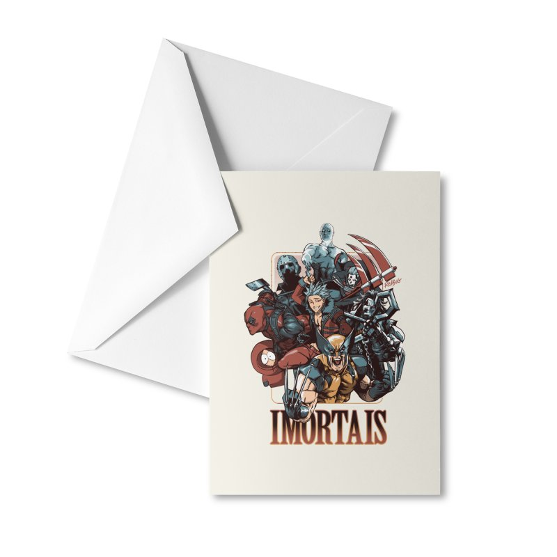 Imortais Accessories Greeting Card by Red Bug's Artist Shop