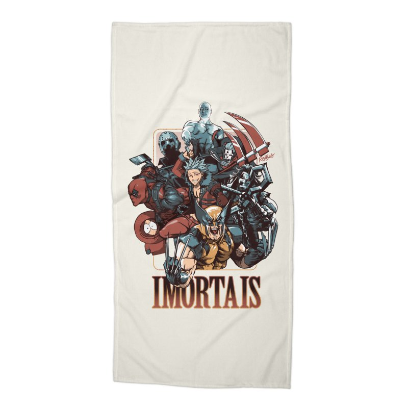 Imortais Accessories Beach Towel by Red Bug's Artist Shop