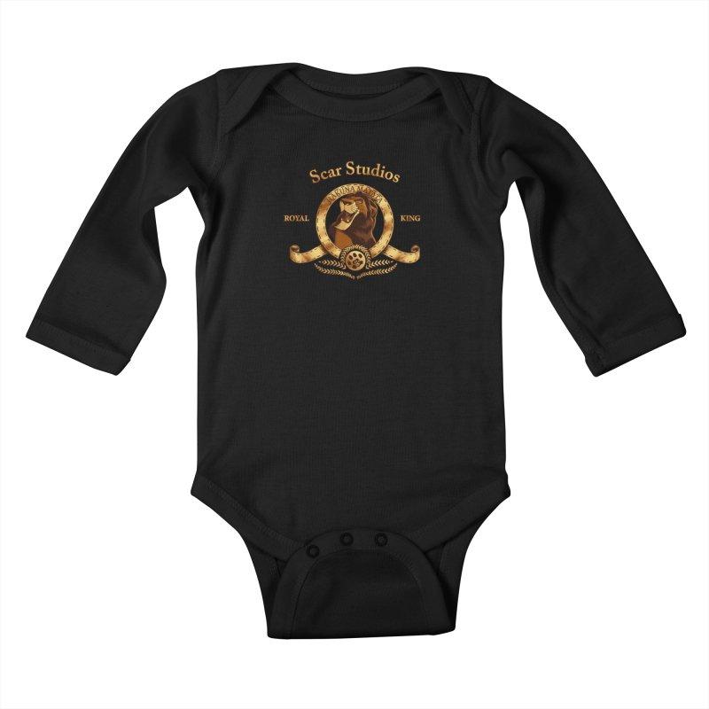 Scar Studios Kids Baby Longsleeve Bodysuit by Red Bug's Artist Shop