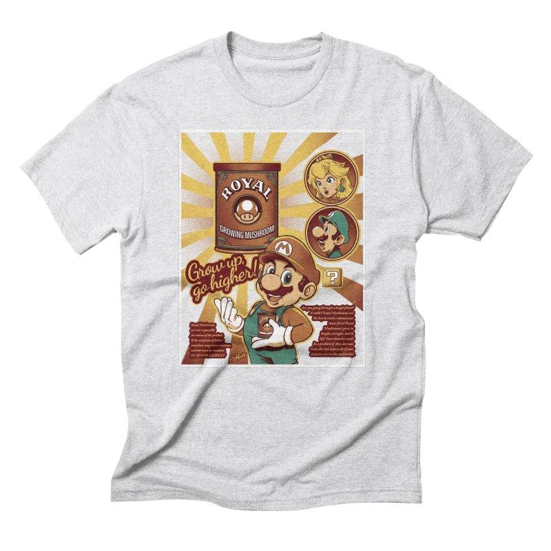 Royal Mushrooms Men's T-Shirt by Red Bug's Artist Shop