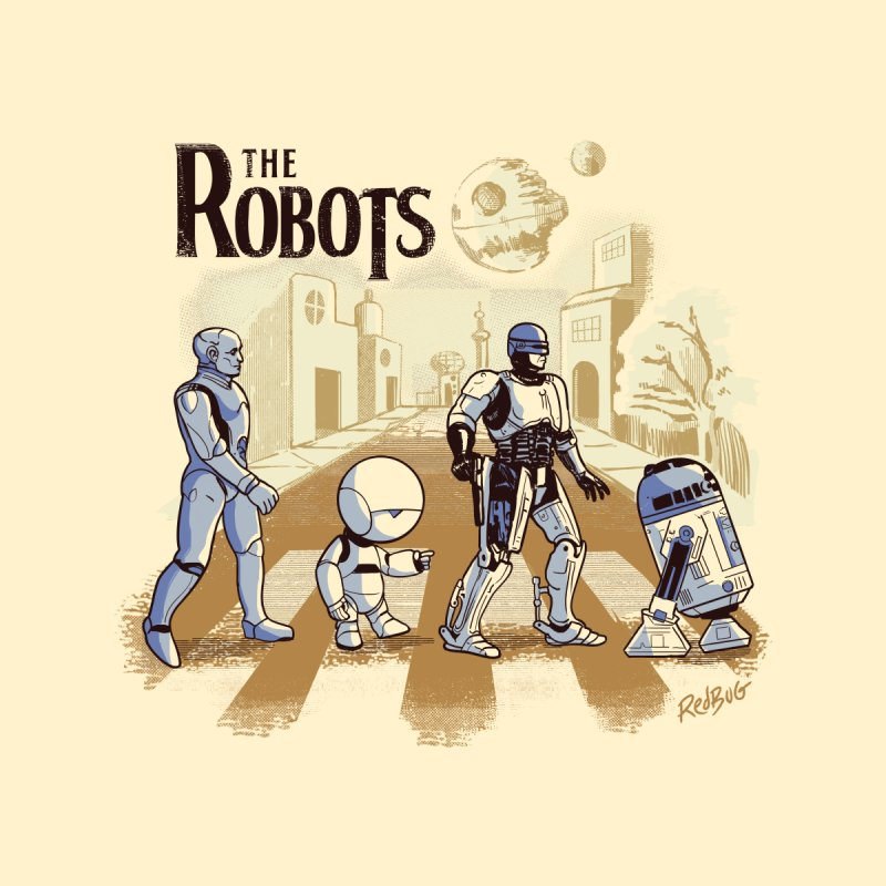 The Robots Men's T-Shirt by Red Bug's Artist Shop