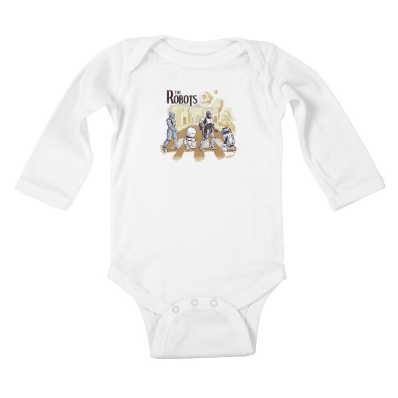 The Robots Kids Baby Longsleeve Bodysuit by Red Bug's Artist Shop
