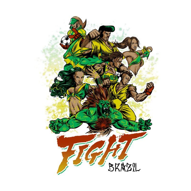 Fight Brazil Men's T-Shirt by Red Bug's Artist Shop