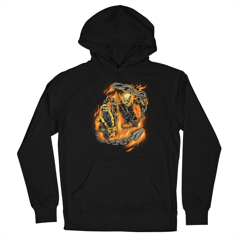 Hell Fight Men's Pullover Hoody by Red Bug's Artist Shop