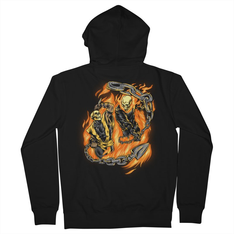 Hell Fight Men's Zip-Up Hoody by Red Bug's Artist Shop