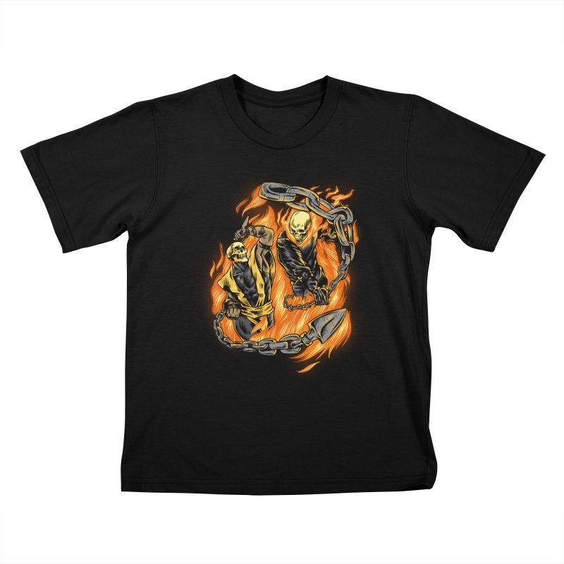 Hell Fight Kids T-Shirt by Red Bug's Artist Shop