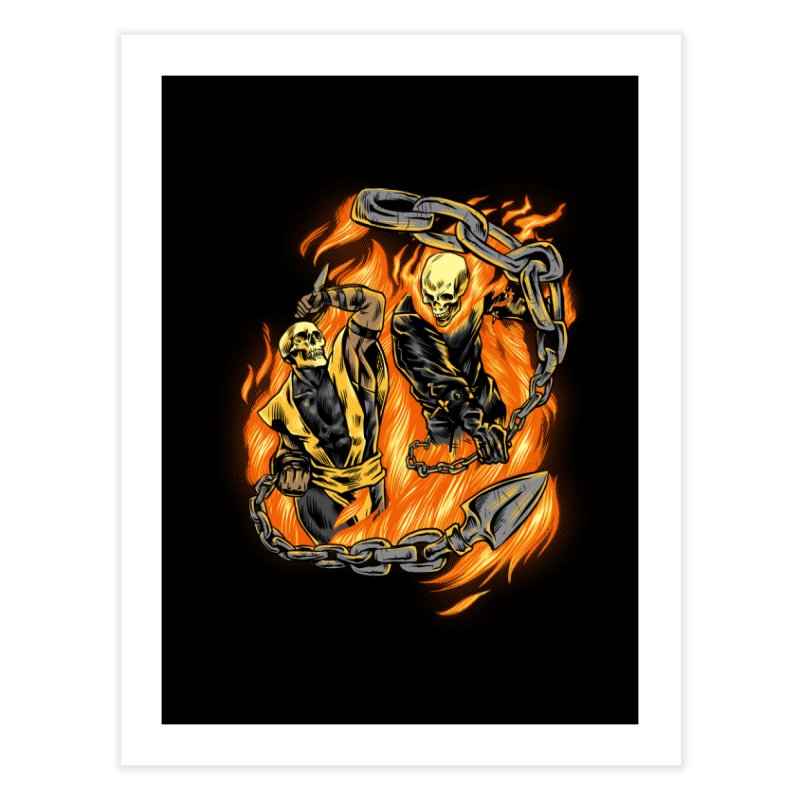 Hell Fight Home Fine Art Print by Red Bug's Artist Shop