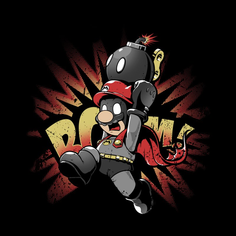 Mario Bomb Men's T-Shirt by Red Bug's Artist Shop