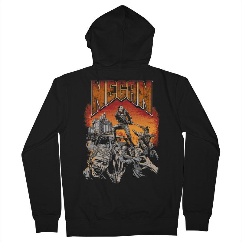 Negan Men's Zip-Up Hoody by Red Bug's Artist Shop