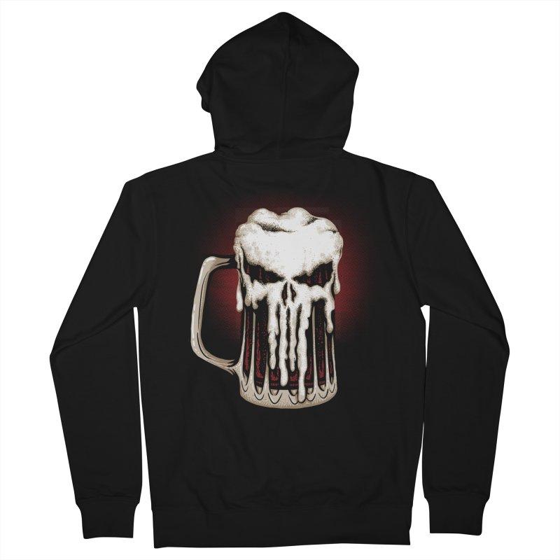 Punisher Beer Men's Zip-Up Hoody by Red Bug's Artist Shop
