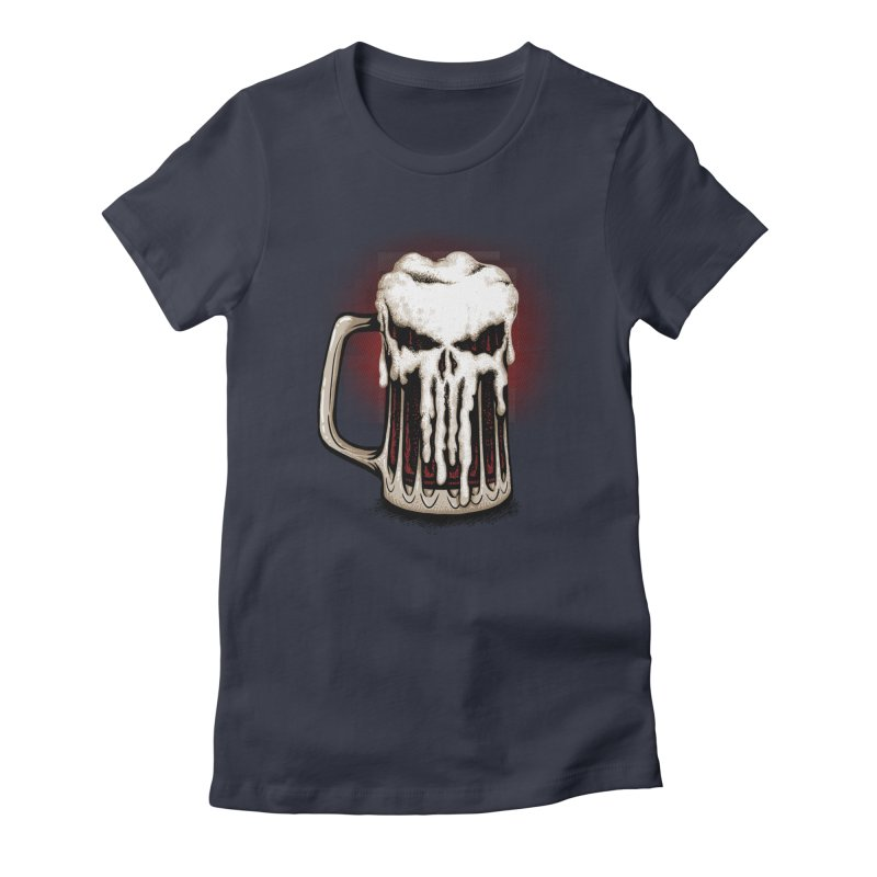 Punisher Beer Women's T-Shirt by Red Bug's Artist Shop