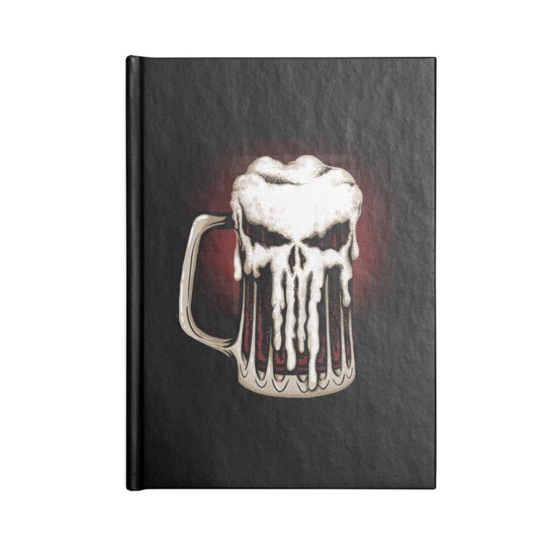 Punisher Beer Accessories Notebook by Red Bug's Artist Shop