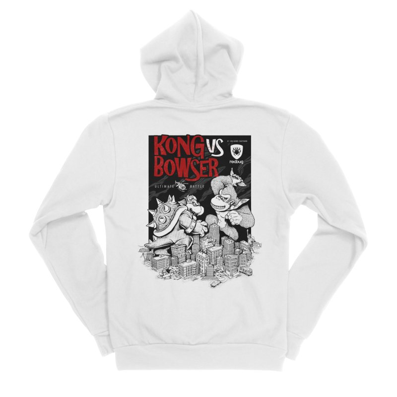 Donkey vs Bowser Women's Zip-Up Hoody by Red Bug's Artist Shop