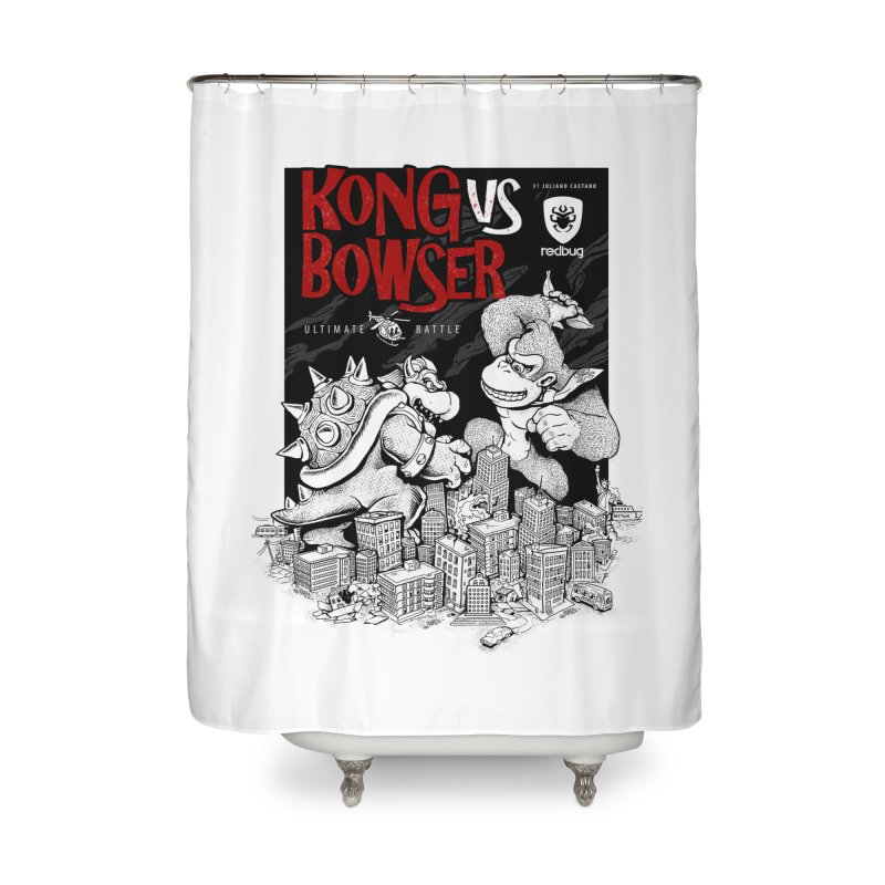 Donkey vs Bowser Home Shower Curtain by Red Bug's Artist Shop