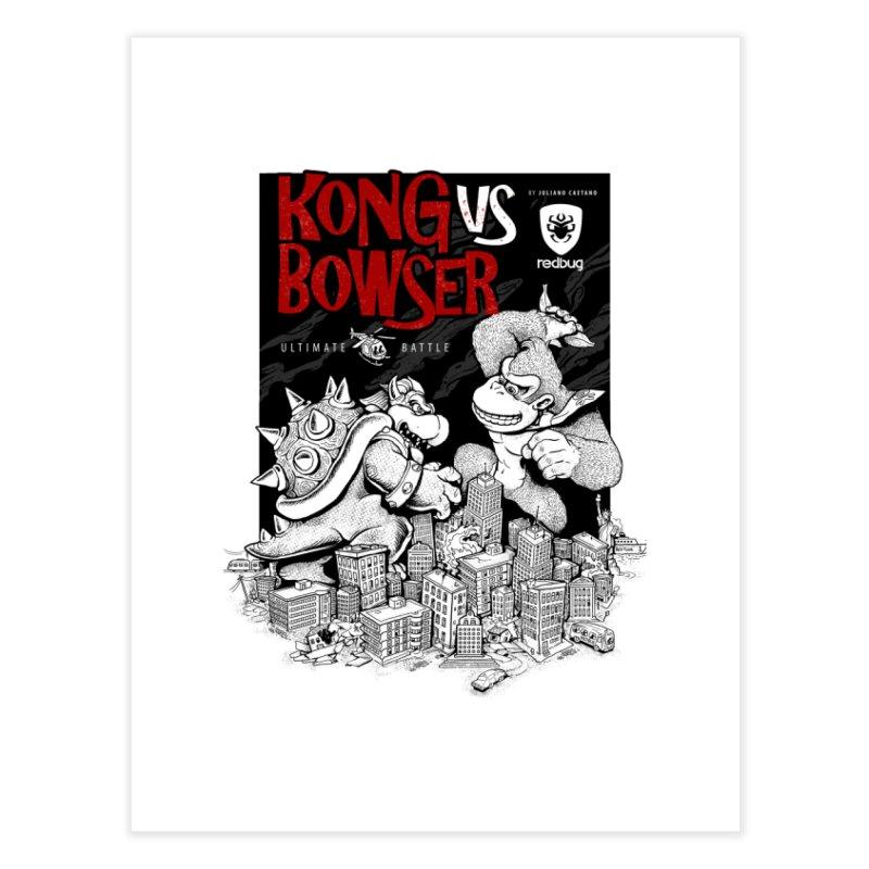 Donkey vs Bowser Home Fine Art Print by Red Bug's Artist Shop