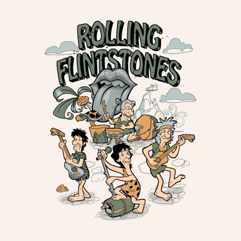 Rolling Flintstones Men's T-Shirt by Red Bug's Artist Shop