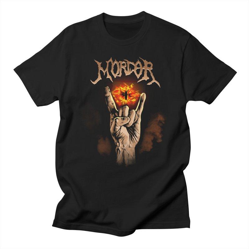 Sauron Rocks in Men's Regular T-Shirt Black by Red Bug's Artist Shop