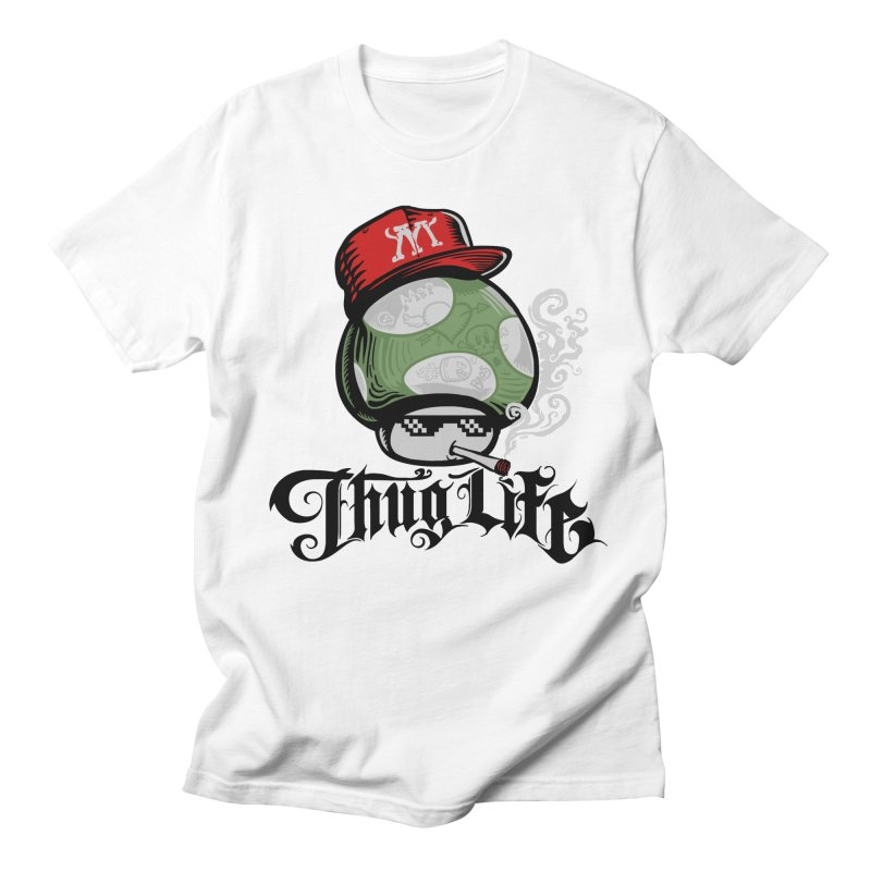 Thug Life  Men's T-Shirt by Red Bug's Artist Shop